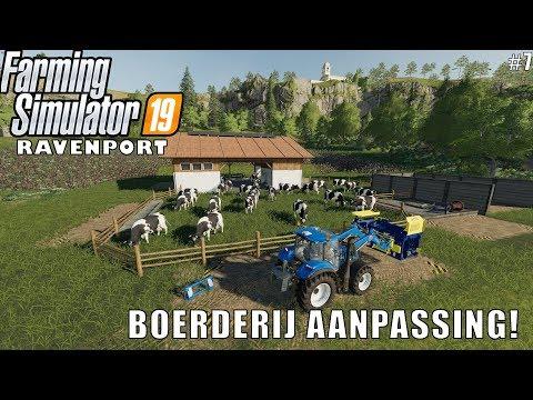 'BOERDERIJ AANPASSING!' Farming Simulator 19 Ravenport #7