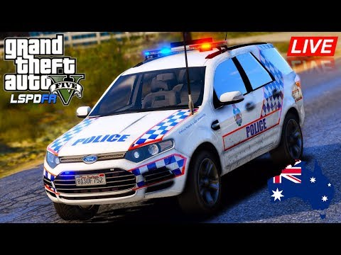 GTA 5 - LSPDFR Australia - Queensland Police Ford Territory Patrol (Play GTA as a cop mod for PC)