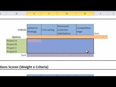 Prioritization Matrix Objectivity in Decision Making - YouTube - project prioritization template