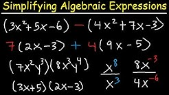 Simplifying Algebraic Expressions With Parentheses & Variables - Combining Like Terms - Algebra
