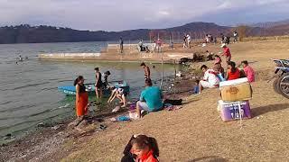 Lago de Amatitlan. una playa.