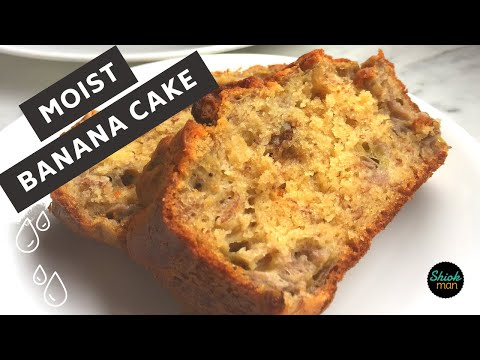 How To Make Moist Banana Walnut Cake