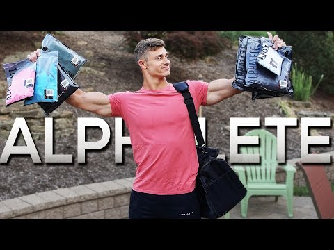 ALPHALETE CLOTHING HAUL   4K Gym Footage