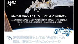 きぼう利用ネットワーク・クロス(2020年度#2「きぼう」利用超小型衛星放出ミッション対談)5.研究開発基盤としての「きぼう」への期待