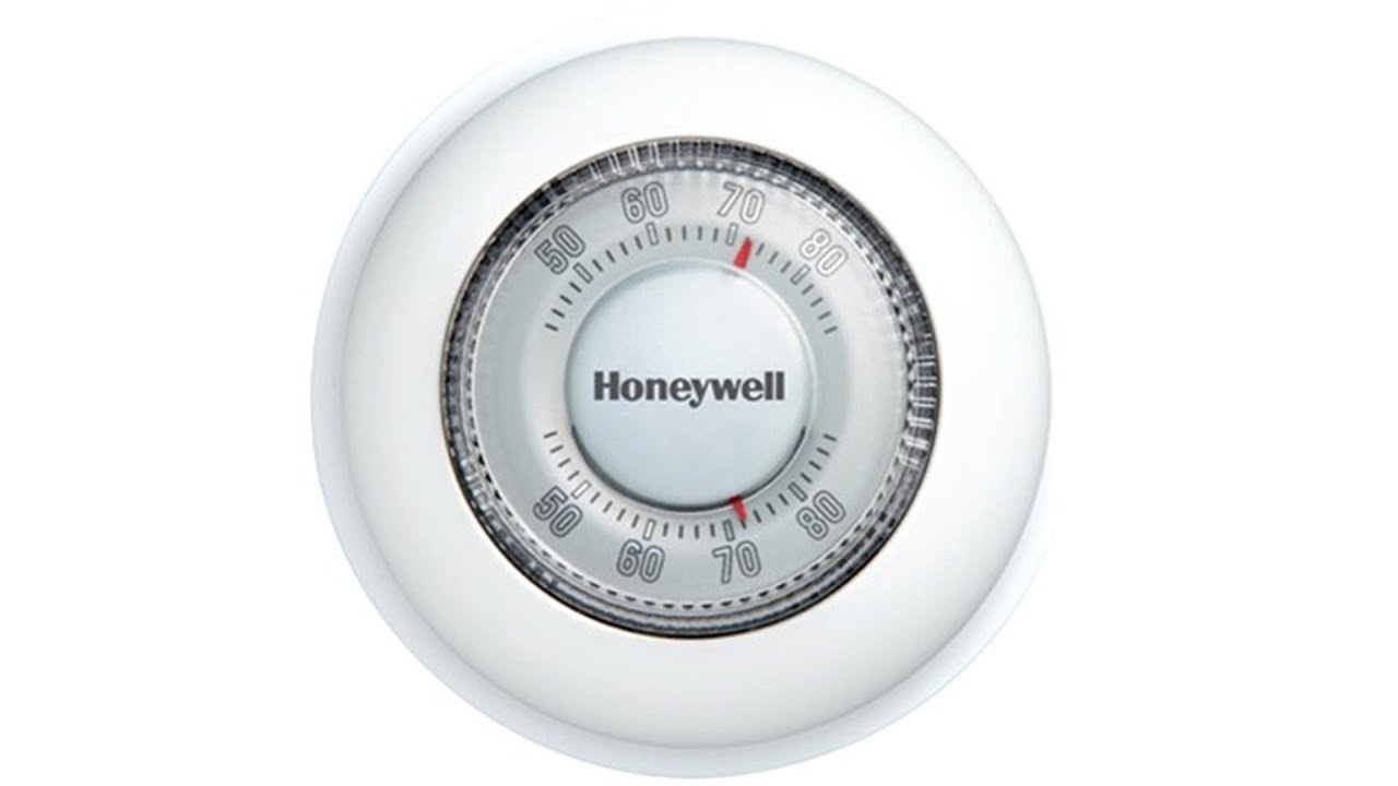 honeywell round heat only non programmable manual thermostat ct87k1004  [ 1280 x 720 Pixel ]