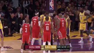 Full video of how the brawl started. Lakers vs. Rockets 10/20/18