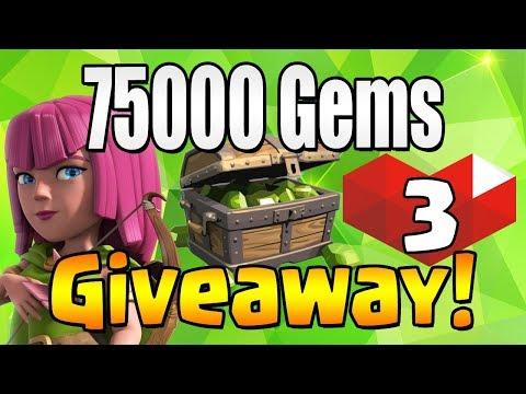 WINNER #8   75000 GEM Giveaway!  TH12 CELEBRATION   Clash of Clans