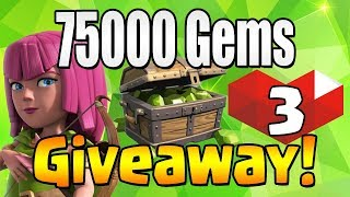 WINNER #8 | 75000 GEM Giveaway!  TH12 CELEBRATION | Clash of Clans