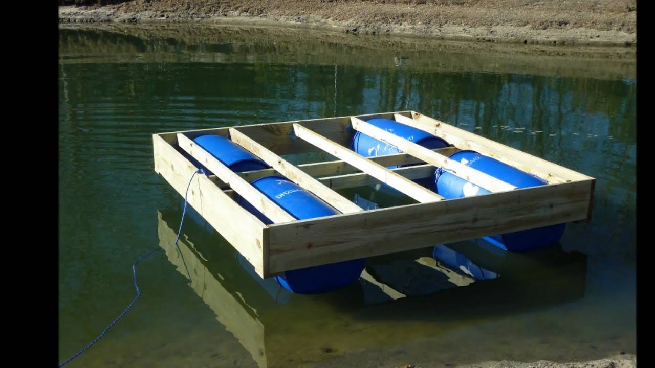 floating dock in progress - YouTube