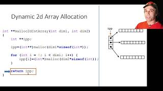 Download Dynamic 2d array allocation and deallocation in C