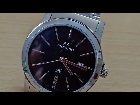 Maxima Attivo Steel Wrist Watch Unboxing