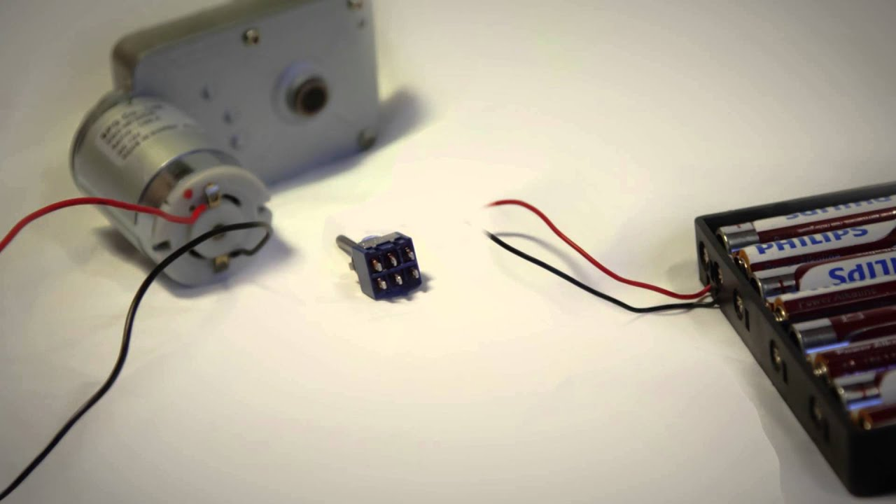 How To Use A Switch To Drive A DC Motor Forwards And