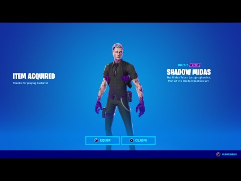 HOW TO GET NEW SHADOW MIDAS SKIN IN FORTNITE!