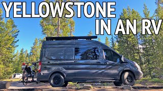 RV Yellowstone National Park in 5 Days with a Dog