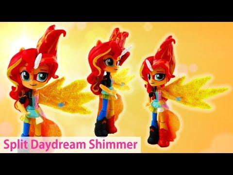 Custom MLP Daydream Shimmer Transformation Sunset Shimmer Split Pony Equestria Girls Minis Doll