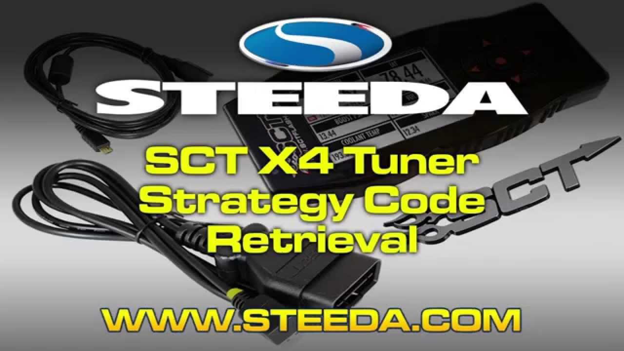 SCT X4 Mustang Tuner Strategy Code Retrieval - Steeda
