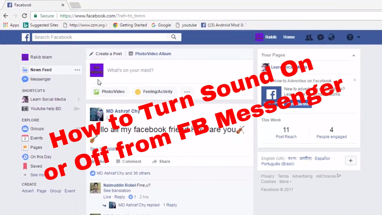 How to Turn Sound On and Off on Facebook Messenger FB Tips 62