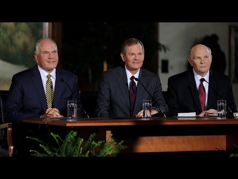 New Mormon Apostles Introduced to News Media