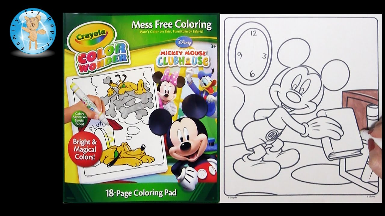 Crayola Color Wonder Mickey Mouse Clubhouse Coloring Book Bookshelf -  Family Toy Report