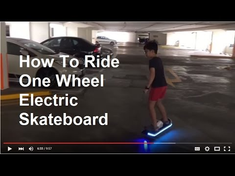 how to ride one wheel electric skateboard unboxing demo. Black Bedroom Furniture Sets. Home Design Ideas