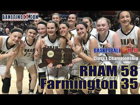 RHAM vs. Farmington girls basketball in Class L girls basketball title game