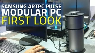 Samsung ArtPC Pulse First Look | Cylindrical Modular PC With 360-Degree Sound