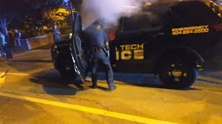Police car burned as anger over student shooting boils over at Georgia Tech thumbnail