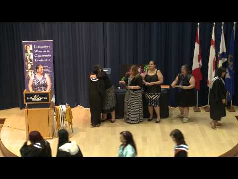Graduation ceremony - 2015 Indigenous Women in Community Leadership
