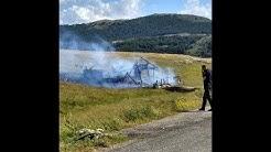 Campo Imperatore: l'incendio che ha distrutto il rifugio San Francesco