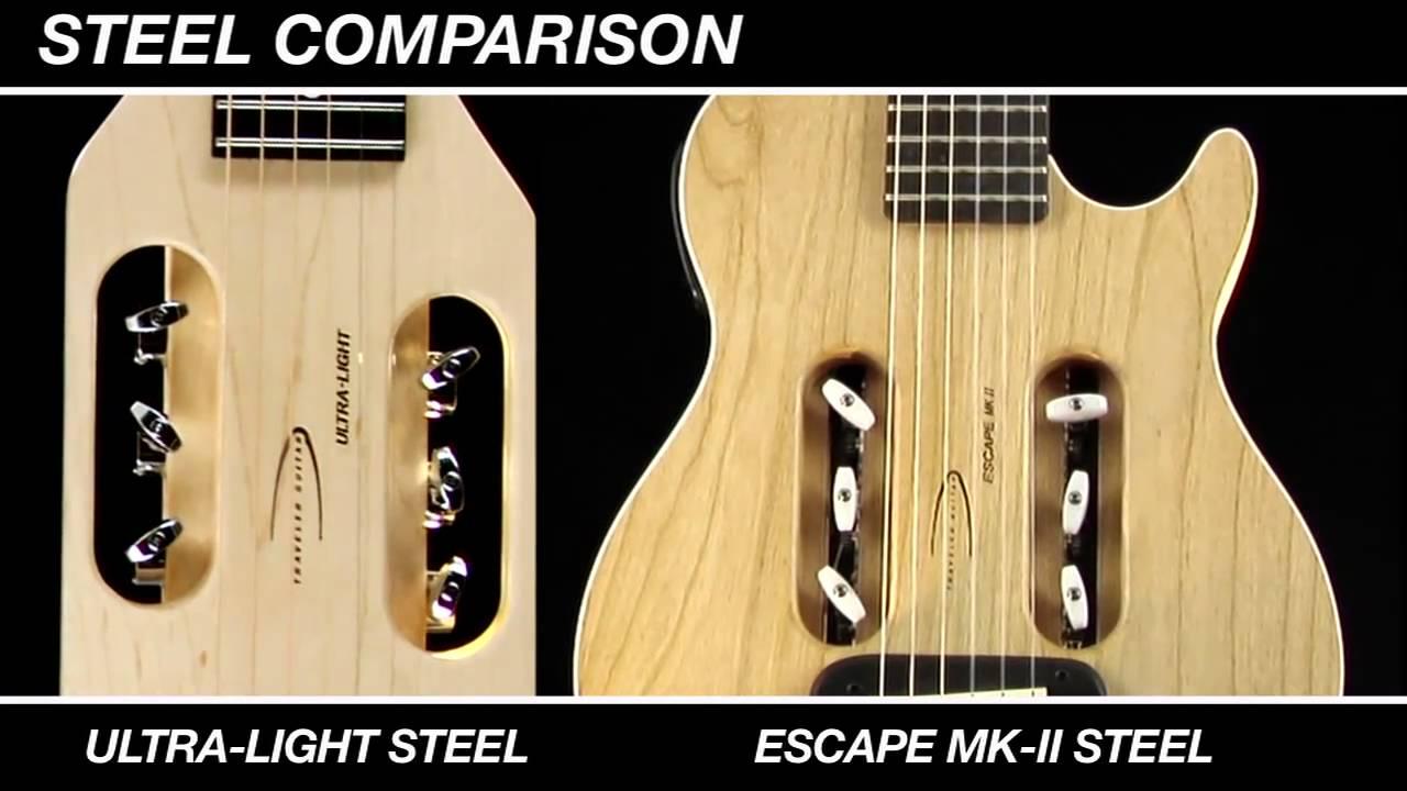acoustic travel guitar comparison traveler steel string models youtube. Black Bedroom Furniture Sets. Home Design Ideas