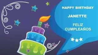 JanetteJanet like Janet - Card Tarjeta- Happy Birthday
