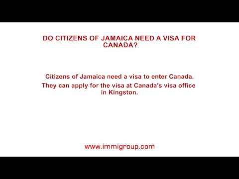 Do citizens of Jamaica need a visa for Canada?