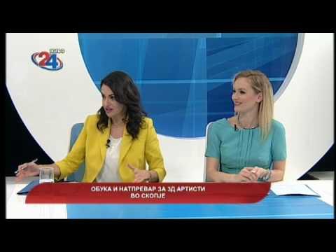 Македонија денес - Обука и натпревар за 3Д артисти во Скопје