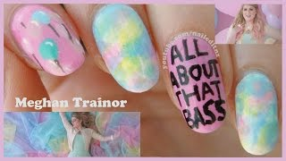 Meghan Trainor - All About That Bass | Nail Art Tutorial
