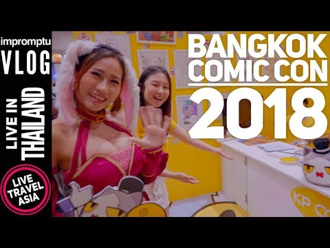 Bangkok x Thailand Comic Con 2018 Walkthrough, Jpop Idol Concert, Manga Artists, Action Figures
