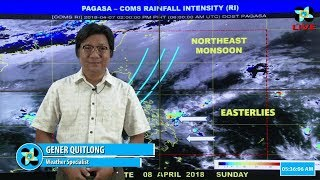 Public Weather Forecast Issued at 4:00 AM April 08, 2018