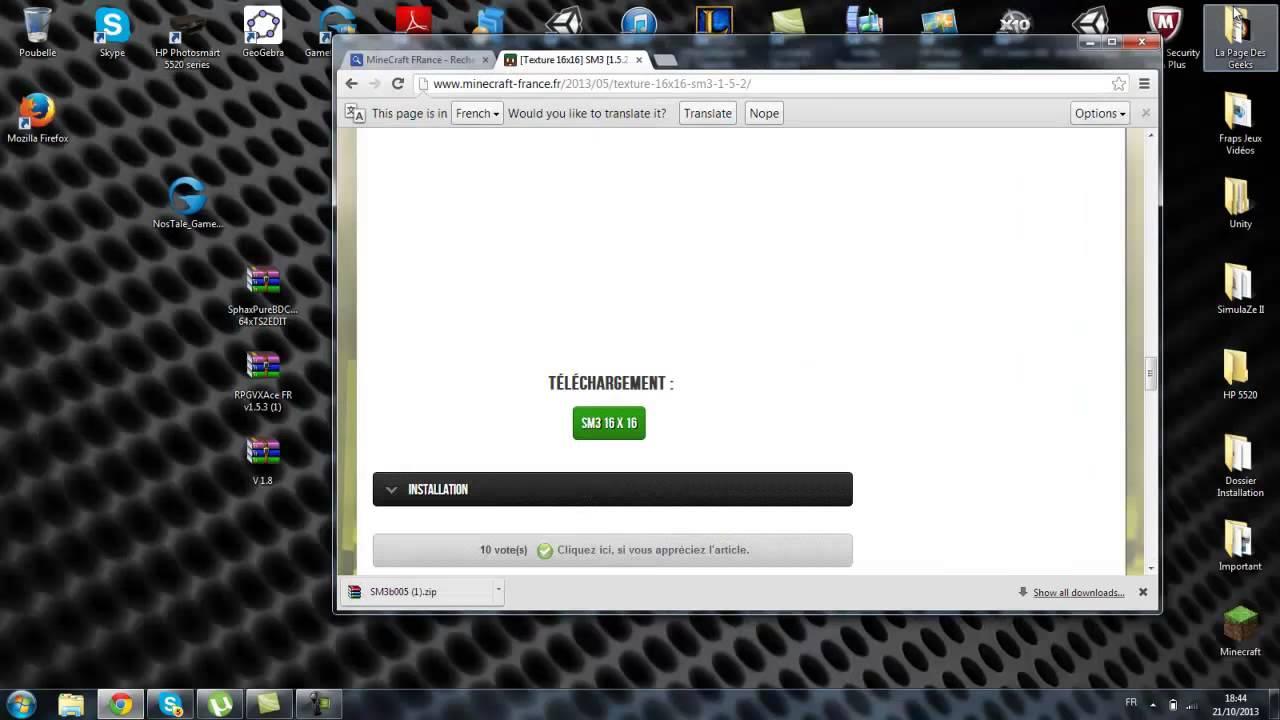 Comment Télécharger Un Pack De Texture Sur Minecraft Facilement ! - YouTube