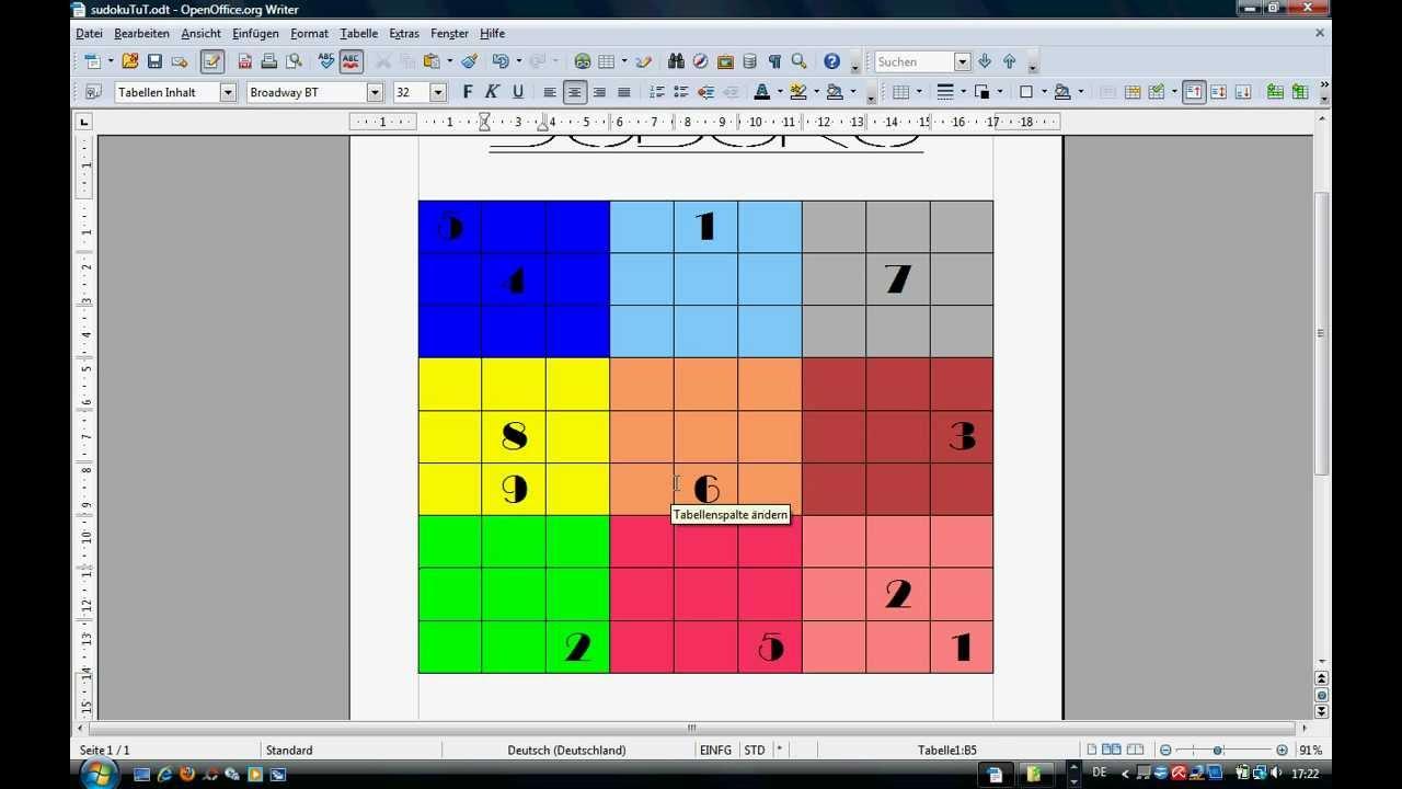 Ungewöhnlich Sudoku Leere Vorlage Ideen - Beispiel Business ...
