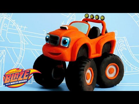 How to Make Blaze from Clay 🚗   DIY Crafts   Nick Jr.