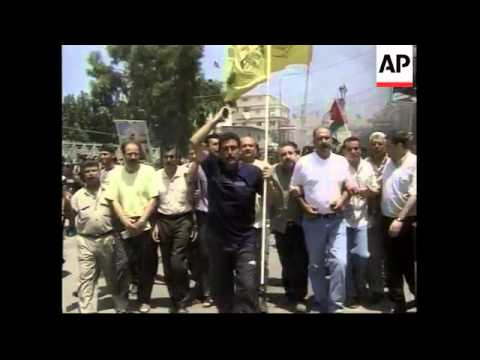 Palestinians refugees protest against Gaza attack