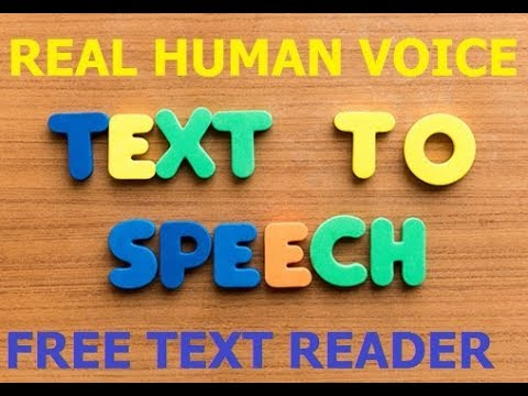 FREE TEXT READER WITH REAL HUMAN VOICE!!!best text to speech online