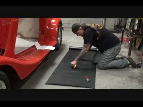 34 Ford Street Rod Installing The Running Board Mat Part 1