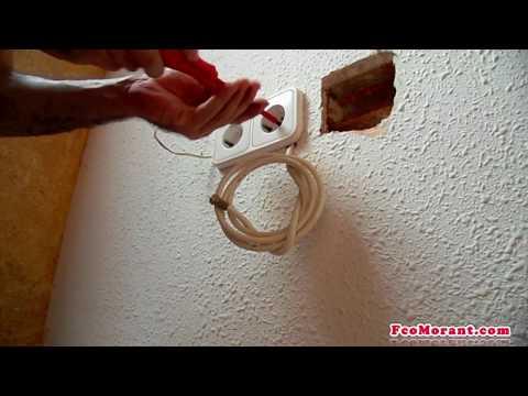 Empotrar cable de antena part1