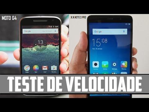 Moto G4 Plus Vs Xiaomi Note 3 Pro - Teste de Velocidade (SPEED TEST)