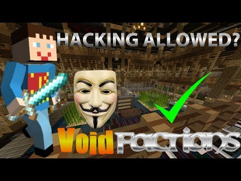 MCPE VoidFactions / HACKING IS ALLOWED?!!!