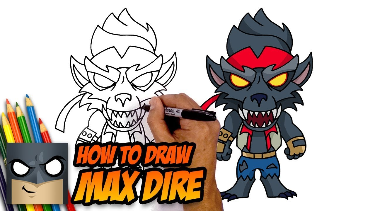 How to Draw Fortnite | MAX DIRE - YouTube