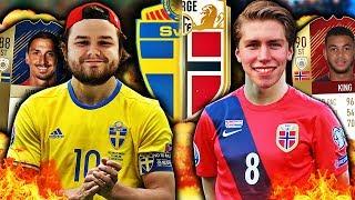 NORGE MOT SVERIGE PÅ FIFA 18!! 🏆🔥 FIFA 18 LANDSKAMP MOT GGFROLLE!!