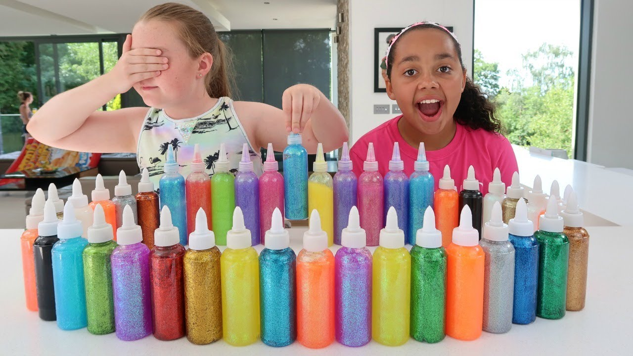 3 Colors Of Glue Slime Challenge Best Slimes Ever Youtube