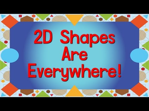 2D Shapes Are Everywhere | Shape Song for Kids | Learn Shapes | Jack Hartmann