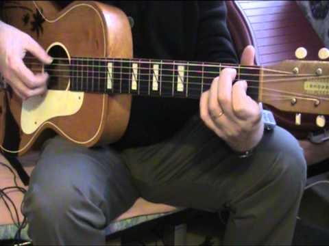 B&J Serenader vintage parlor student guitar 1940s 50s
